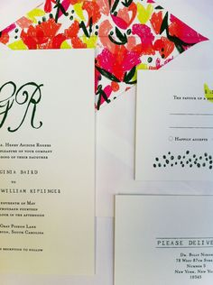 Mr. Boddington's Studio Poppy Invitation