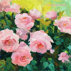 This original oil painting on gallery wrapped canvas depicts a hybrid tea rose in that lovely color that can only be described as Princess…