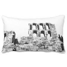 athens greece black and white throw pillows - Google Search