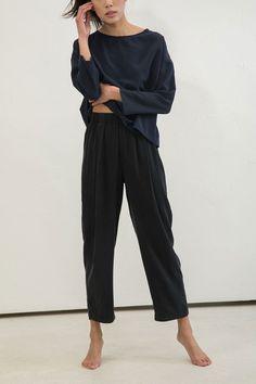 Andy Trouser in Silk Crepe – Elizabeth Suzann