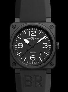 montre luxe collection: montre Bell Ross BR 03-92 Black Matte Automatique ...