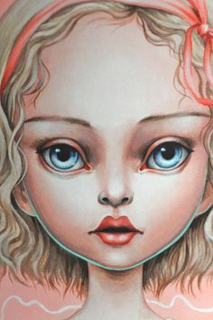 Lolita - Limited Edition signed numbered pop surrealism lowbrow Fine Art Print by Mab Graves -unframed Graphic Design Illustration, Illustration Art, Art Illustrations, Face Sketch, Foto Art, Pop Surrealism, Whimsical Art, Unique Art, Art Inspo