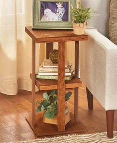 Rustic Finish Square Side End Table Display Rustic Wood - Side Tables - Ideas of Side Tables Slim Side Table, Side Table With Drawer, Square Side Table, Rustic Table, Rustic Wood, Home Decor Furniture, Table Furniture, Wood End Tables, Side Tables