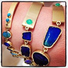 ID bracelets in boulder opals, yum!
