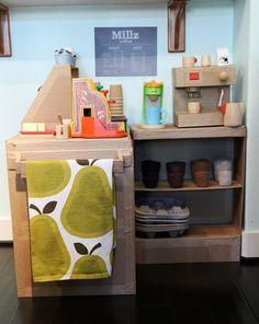 The World's Cutest Cardboard Coffee Shop — 45Wall Design