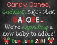 Christmas Pregnancy Announcement // by ChalkingItUpBoards on Etsy