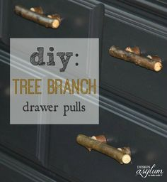 This little project turned out great.   Quick, easy, and basically free!  Make your own furniture handles out tree branches. So a recent clie…