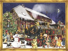 Traditional German advent calendars like the ones we had as kids!!! Put it up in the window and argue over who gets to open it each day.