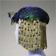 Peacock headdress, circa 1913