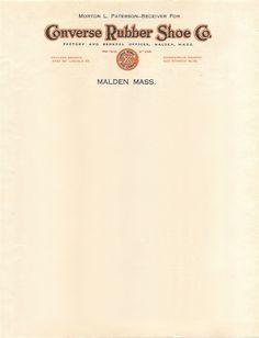 Converse letterhead from 1928 Letterhead Printing, Letterhead Design, Get Off My Lawn, Stationary Design, Vintage Stationary, Envelope Design, Victorian Design, Publication Design, Typography