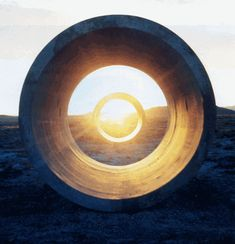Nancy Holt's Sun Tunnels: Sunset (1976)