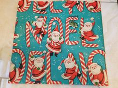 2 VINTAGE SHEETS RETRO CHRISTMAS WRAPPING PAPER LOT NOEL~ROCKET SANTA | eBay