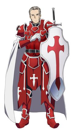 Character design by Adachi Shingo for the Sword Art Online anime Heathcliff& original character. Character Inspiration, Character Art, Character Design, Online Anime, Online Art, Armor Concept, Concept Art, Berserk, Dark Fantasy Art