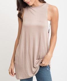 Another great find on #zulily! Toffee  Sleeveless Tunic #zulilyfinds