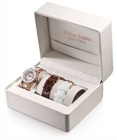 Philip Zepter Secret Desire Rose Gold & White Ceramic Watch Box, Jewelry Packaging, Innovation Design, White Ceramics, Wedding Rings, Rose Gold, Watches, Boxes, Lord