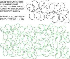 Punk Feathers Pantograph by Lorien Quilting LQPANTO312