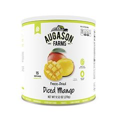 Augason Farms Freeze Dried Diced Mango Can 952 oz * You can get additional details at the image link.(This is an Amazon affiliate link)