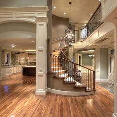 Gorgeous home design. Architecture Design, Stairs Architecture, Beautiful Architecture, Design Case, House Goals, Humble Abode, Home Fashion, My Dream Home, Future House