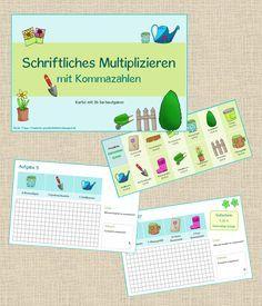 Frau Locke: Schriftliches Multiplizieren mit Kommazahlen - eine Sachrechenkartei
