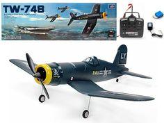 "$261.00 33"" Wingspan 4CH TW-748 F4U Pirate Airplane war plane remote control rc"