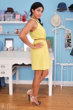 Ootd - the Yellow dress again - www.bleuelectrique.fr