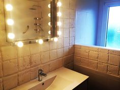 14 besten Badezimmer mit Steinwand Bilder auf Pinterest | Badezimmer ...