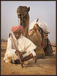 Camel driver - and friend. | Flickr - Photo Sharing!