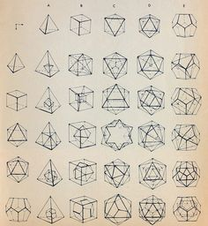 Platonic Solids; The building blocks of the universe.