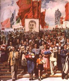 The History Of Soviet Communist Collectivism & Propaganda History Facts, Art History, Propaganda Art, Communist Propaganda, Bolshevik Revolution, Joseph Stalin, Political Posters, Socialist Realism, Soviet Art