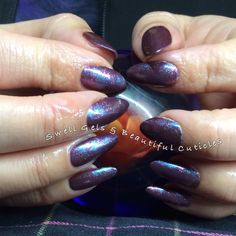 CND Shellac in Rock Royalty. Then Rose Notion & Amethyst Blast Additives