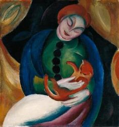 Franz Marc - Girl with cat II.