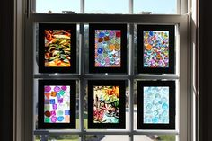 This would be fun to do with the kids --------Window Art | Activities For Children | Clay and Crafts | Play At Home Mom
