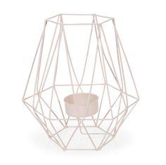 Candeliere rosa in metallo H 16 cm MALMO