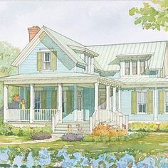 Wildmere Cottage, Plan #1110 | A classic interpretation of coastal and Lowcountry architecture, this home gathers views from almost every side. The open, contemporary floor plan helps to create a relaxed, casual style. | SouthernLiving.com