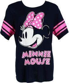 Made of 65% Polyester, 35% Rayon  Bekleidung, Damen, Tops, T-Shirts & Blusen, T-Shirts Minnie Mouse, Jersey Shirt, Plus Size Pajamas, Shirt Bluse, Plus Size Shorts, Junior Tops, Plus Size Fashion For Women, Disney Shirts, Disney Clothes