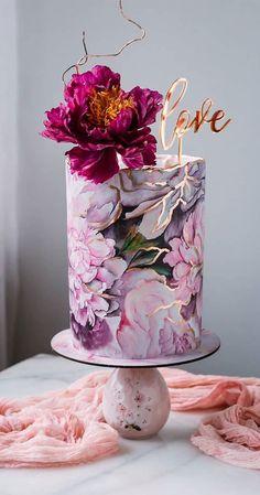 Cool Wedding Cakes, Beautiful Wedding Cakes, Gorgeous Cakes, Pretty Cakes, Cute Cakes, Amazing Cakes, Fancy Cakes, Elegant Birthday Cakes, Beautiful Birthday Cakes