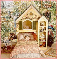 Just try and imagine the sweet and wonderful dreams your daughters will have when going to sleep in this delightful Home Sweet Home Bunk Bed...