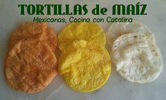 PAN CASERO: TORTILLAS de MAIZ Mexicanas Veg Recipes, Mexican Food Recipes, Snack Recipes, Snacks, Avocado Salad Recipes, Latin Food, Fajitas, International Recipes, Tortilla Wraps