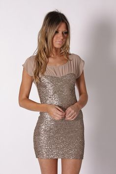 gold sequin cocktail