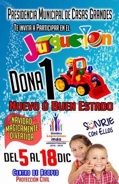 INVITA MUNICIPIO DE CASAS GRANDES AL JUGUETÓN