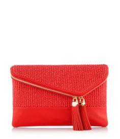 Debutante Straw Asymmetric Clutch | Handbags | Henri Bendel