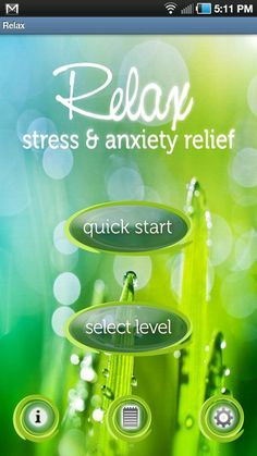 Relax Lite: Stress Relief ... an Android app that helps you relax by helping you time your inhales and exhales through the use of soothing sounds (okay the sounds are bit odd) and a pie chart like image.