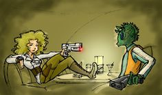 """Check Your Records Again""... by ~WindyKid on deviantART. River Song would kick ass in a galaxy far far away"