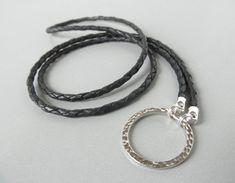 Black Leather Eyeglass Lanyard - Leather Glasses Holder for Men - Leather Lanyard - Reading Glasses Cord - Sunglass Chain - Glasses Lanyard