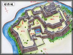 Himeji Castle.  Fortifications were first built on the site in 1333.  In the 16th Century, it was expanded into Himeji Castle.  Remodeled in 1581 by Hideyoshi.  Then rebuilt in the early 17th Century.
