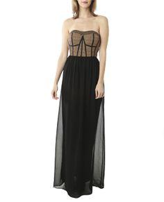 Chiffon Tube Maxi Dress Dresses