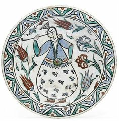 AN IZNIK POTTERY DISH OTTOMAN TURKEY, FIRST HALF 17TH CENTURY