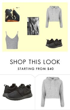 """""""#Untitled4"""" by officialcaitlinn ❤ liked on Polyvore featuring NIKE, Topshop and Glamorous"""