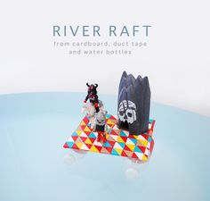 Make A Duct Tape River Raft for Your Child's Toys