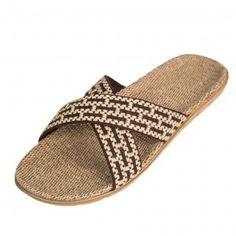 Lovers Cross Linen Slippers